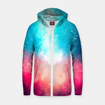 Miniatur Galaxy Cotton zip up hoodie, Live Heroes