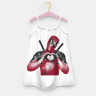 Thumbnail image of Heart deadpool Girl's dress, Live Heroes