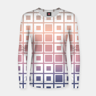 Thumbnail image of Mosaic Cubes on pastel color Woman cotton sweater, Live Heroes