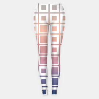 Thumbnail image of Mosaic Cubes on pastel color Leggings, Live Heroes