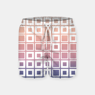 Thumbnail image of Mosaic Cubes on pastel color Swim Shorts, Live Heroes
