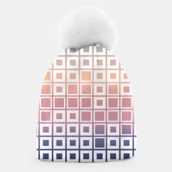 Thumbnail image of Mosaic Cubes on pastel color Beanie, Live Heroes