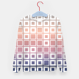 Thumbnail image of Mosaic Cubes on pastel color Kid's sweater, Live Heroes