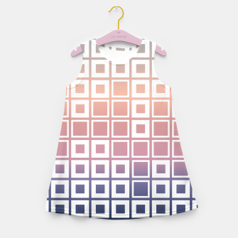 Thumbnail image of Mosaic Cubes on pastel color Girl's summer dress, Live Heroes