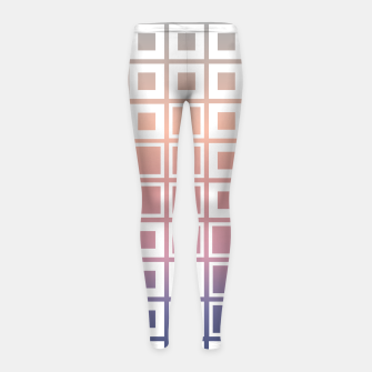 Thumbnail image of Mosaic Cubes on pastel color Girl's leggings, Live Heroes