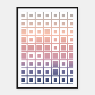 Thumbnail image of Mosaic Cubes on pastel color Framed poster, Live Heroes