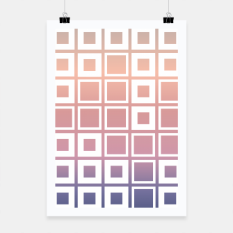 Thumbnail image of Mosaic Cubes on pastel color Poster, Live Heroes