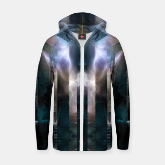 Thumbnail image of Cross Dimensions Cotton zip up hoodie, Live Heroes