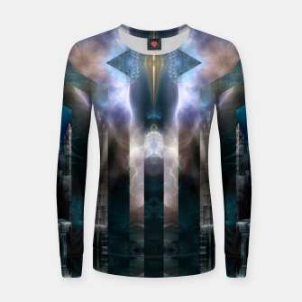 Thumbnail image of Cross Dimensions Woman cotton sweater, Live Heroes