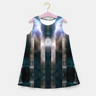 Thumbnail image of Cross Dimensions Girl's summer dress, Live Heroes