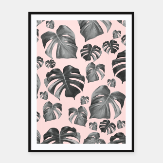 Thumbnail image of Tropical Monstera Pattern #6 #tropical #decor #art Plakat mit rahmen, Live Heroes