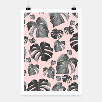 Thumbnail image of Tropical Monstera Pattern #6 #tropical #decor #art Plakat, Live Heroes