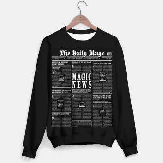 Thumbnail image of The Daily Mage Magic Fantasy Newspaper II Sweater regular, Live Heroes