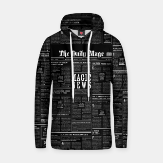 Thumbnail image of The Daily Mage Magic Fantasy Newspaper II Cotton hoodie, Live Heroes