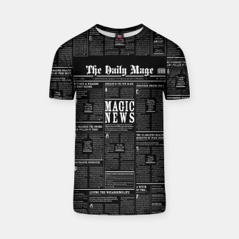 Thumbnail image of The Daily Mage Magic Fantasy Newspaper II T-shirt, Live Heroes