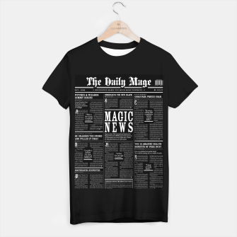 Thumbnail image of The Daily Mage Magic Fantasy Newspaper II T-shirt regular, Live Heroes