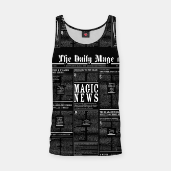 Thumbnail image of The Daily Mage Magic Fantasy Newspaper II Tank Top, Live Heroes