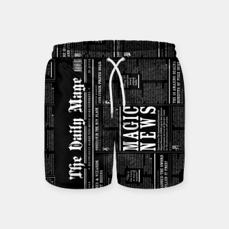 Thumbnail image of The Daily Mage Magic Fantasy Newspaper II Swim Shorts, Live Heroes