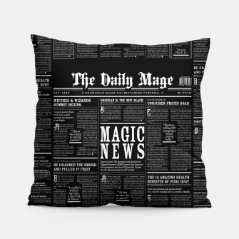 Thumbnail image of The Daily Mage Magic Fantasy Newspaper II Pillow, Live Heroes