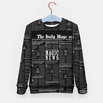 Thumbnail image of The Daily Mage Magic Fantasy Newspaper II Kid's sweater, Live Heroes