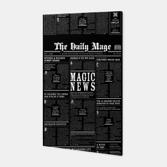 Thumbnail image of The Daily Mage Magic Fantasy Newspaper II Canvas, Live Heroes