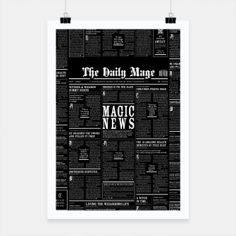 Thumbnail image of The Daily Mage Magic Fantasy Newspaper II Poster, Live Heroes