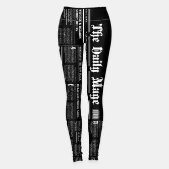 Thumbnail image of The Daily Mage Magic Fantasy Newspaper II Leggings, Live Heroes