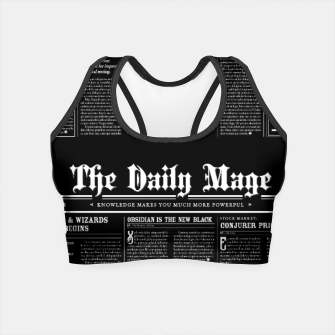 Thumbnail image of The Daily Mage Magic Fantasy Newspaper II Crop Top, Live Heroes