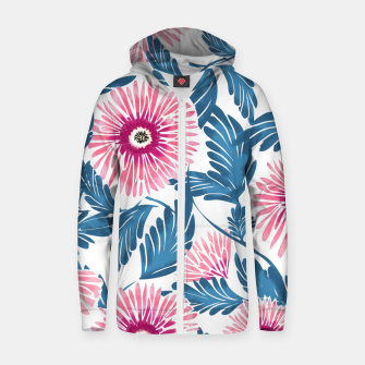 Miniaturka Gerbera Bloom Cotton zip up hoodie, Live Heroes