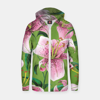 Miniaturka Tiger Lily Cotton zip up hoodie, Live Heroes