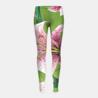 Miniatur Tiger Lily Girl's leggings, Live Heroes
