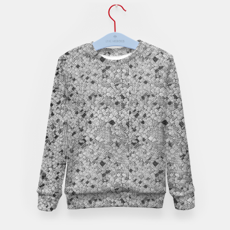 Thumbnail image of Cracked Texture Abstract Print Kid's sweater, Live Heroes