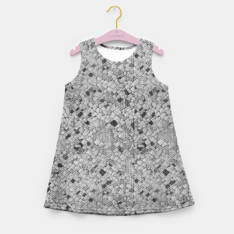 Thumbnail image of Cracked Texture Abstract Print Girl's summer dress, Live Heroes