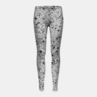 Thumbnail image of Cracked Texture Abstract Print Girl's leggings, Live Heroes