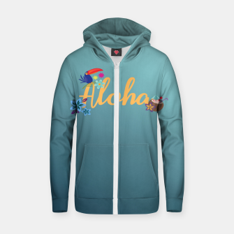 Thumbnail image of Aloha Cotton zip up hoodie, Live Heroes