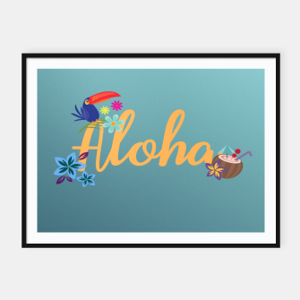Thumbnail image of Aloha Framed poster, Live Heroes