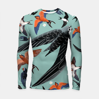 Imagen en miniatura de Swallows and Swift pattern Longsleeve rashguard, Live Heroes