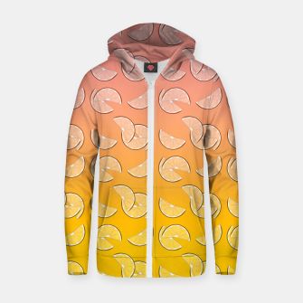 Miniatur Grapefruit pattern Cotton zip up hoodie, Live Heroes