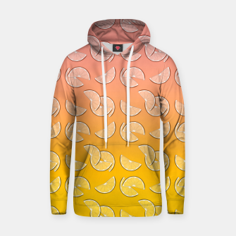 Miniatur Grapefruit pattern Cotton hoodie, Live Heroes