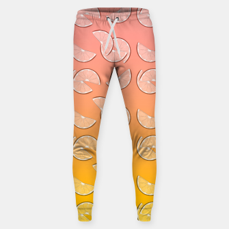 Miniatur Grapefruit pattern Cotton sweatpants, Live Heroes