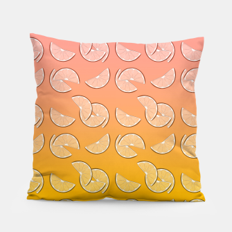 Miniatur Grapefruit pattern Pillow, Live Heroes