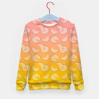 Miniatur Grapefruit pattern Kid's sweater, Live Heroes