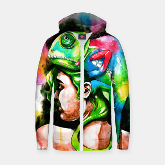 Thumbnail image of good hair day Cotton zip up hoodie, Live Heroes