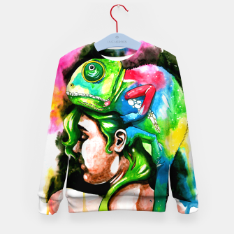 Thumbnail image of good hair day Kid's sweater, Live Heroes