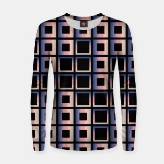 Imagen en miniatura de Square composition on black background Woman cotton sweater, Live Heroes