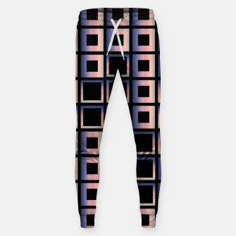Imagen en miniatura de Square composition on black background Cotton sweatpants, Live Heroes