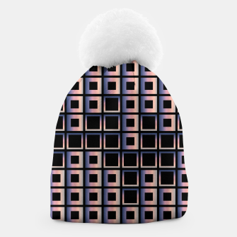 Imagen en miniatura de Square composition on black background Beanie, Live Heroes