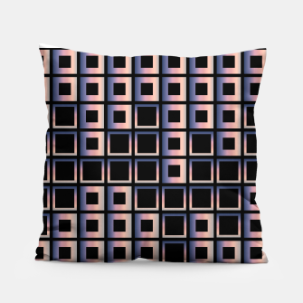 Imagen en miniatura de Square composition on black background Pillow, Live Heroes