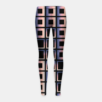 Imagen en miniatura de Square composition on black background Girl's leggings, Live Heroes