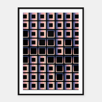 Imagen en miniatura de Square composition on black background Framed poster, Live Heroes